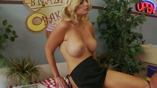 Brooklyn Bailey gets cock lolipop in the candy shop image