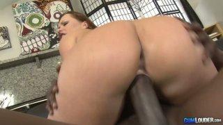 Gorgeous bbw milf Katja Kassin blows giant_BBC and rides on top. image