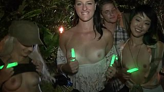 Night camp party image