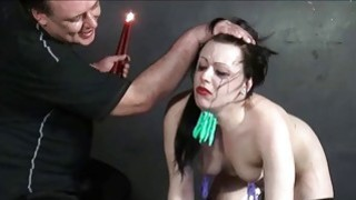 Humiliated slave Isabel Deans pegged and punished image