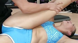 One of the gals fucks the trainer on top while eating bunch of pussies image
