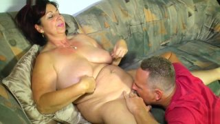 LETSDOEIT - German Amateur BBW Gets Fucked On The Couch image