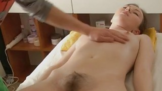 Naturallybushed babe has hot sex after_a massage image
