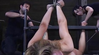 Tied up beauty receives gratifying for her cunt image