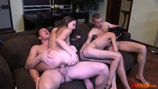 Perfect Double Date With Swinger Sex - Foxy Di image
