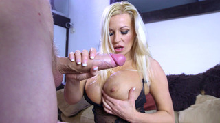 Michelle Thorne sucks the invisible man's monster cock image
