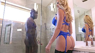 Brandi love interracial, when her husband is away Mandingo cums to play (26. 10. 2017) /color] image