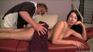 Voluptuous senorita Esperanza Diaz gets a pussy massage from Evan Stone image