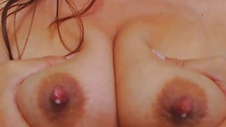 Horny Mom Milks Herself And Fucks Dildo image