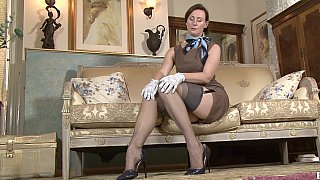 Mature lady stripping and teasing image