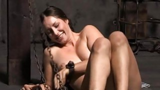 Tied up beauty acquires gratifying for_her pussy image