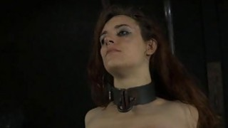 Tied up slave acquires_pleasuring her filthy cleft image