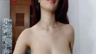 Hot Webcam Girl Shakes Her Boobies image