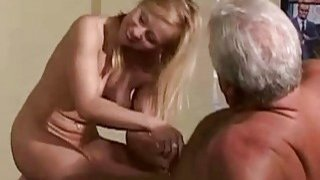 Vintage Old Young Teenie Girl Fucked by 2 grandz image