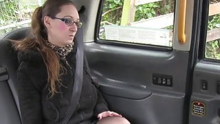 Tattooed busty amateur bangs in taxi euro spycam image