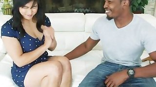 A very hot Asian chick Mia Li gets her tight butt fucked hard by horny black man image