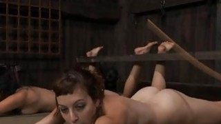Fastened up gal acquires pleasuring for her pussy image
