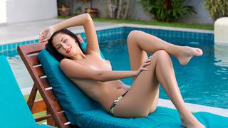 Ukrainian finest showing off her beauty image