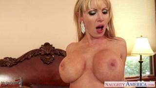 MILF girlfriend with big tits Nikki Benz fucking image