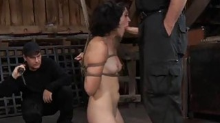 Tied up slave acquires pleasuring her naughty cunt image
