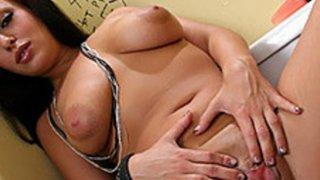 Bad Girl Angelicia Raven Sucks Off Sneaky Cock image