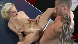 Haley Cummings and Scott Nails fucking at the ping pong table image