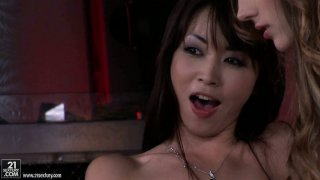 Backstage video with Tina Blade in threesome shows how professional POV vids are made image