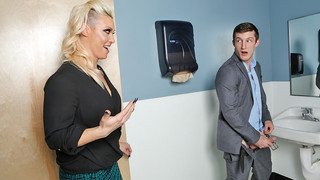 Unthinkable karla lane vs cj wright & Cj jean & brick danger in naughty office image