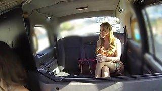 Huge tits lesbian licks cab drivers cunt image