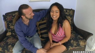 Slutty and hot Jessica Bangkok repays for cunnilingus with a stout cock riding image