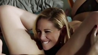 Beautiful and horny lesbians Sovereign Syre and Cherie DeVille in a moment of fuck image