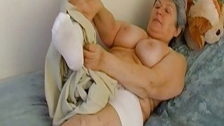 OmaHoteL Extra Hairy Granny Seductive Striptease image