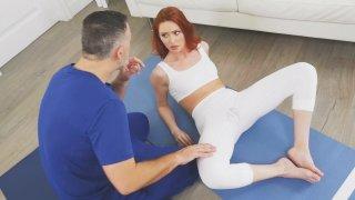 Yoga Babe cumz Multiple Times on Thundering Penis! image