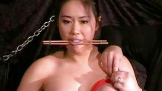 Busty asian bdsm and needle tortures of Tigerr Jug image