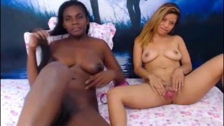 Image: Interracial Lesbian Couple Get Naughty