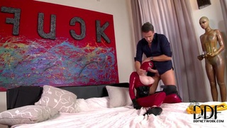 Katia D Lys is fucking in_her latex outfit image