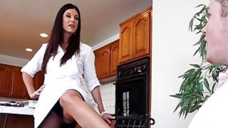Lucky guy having phone sex with his GFs stepmom India Summer image