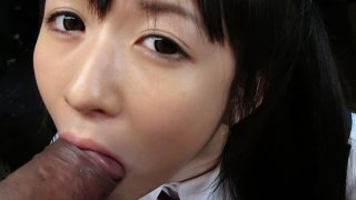 Teeny queen Ai Uehara gives a nice blowjob image