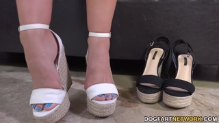 Cassidy Klein Pleases A Big Black Cock With Her Feet image