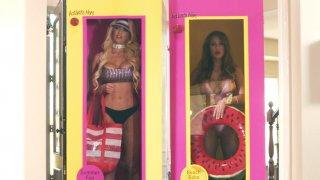 Nicolette Shea and Vivian Azure give nice blowjob image