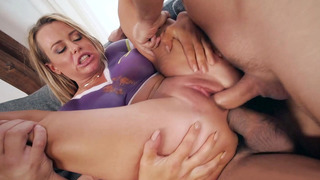 Corinna Blake getting double penetrated by two big pricks image