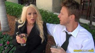 Image: Sexy blonde pornstar is having fun with her sexy boyfriend
