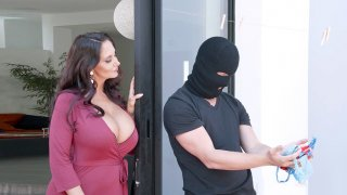 Ava Addams caught the panties' thief and invited him in the house image