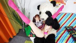 Young brunette masturbates pink toy - jord8 image