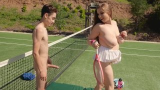 Tennis practice turns into a perverted sex with a curvy teen image