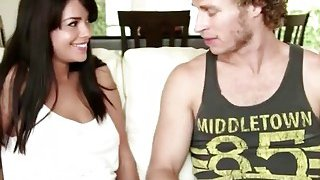 Step sis Ava gets licked and pounded on couch image