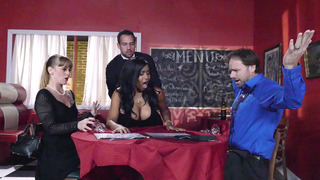 Jenna J Foxx takes a firm dicking_in front of the shocked patrons image