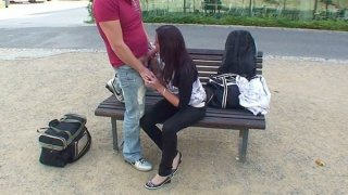 Public fuck video with cute teen image