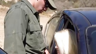 Blonde Babe Gets Fucked At The Border Crossing image