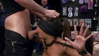 Explicit pussy torture for an captivating sex serf image
